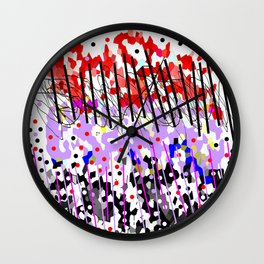Lines and colors Wall Clock