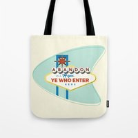 sin city Tote Bags featuring Sin City by khalan
