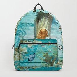Floral Alice In Wonderland Quote - Imagination Backpack
