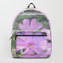 Urban Flowers In Lilac Backpack