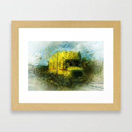 The Delivery  - Freight Truck Framed Art Print