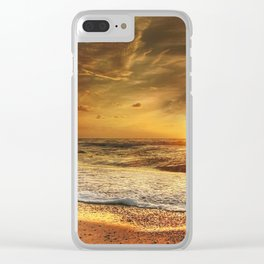 Beautiful California summer beach at sunset time Clear iPhone Case