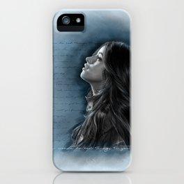 Camila Digital Painting with Bad Things Lyrics iPhone Case
