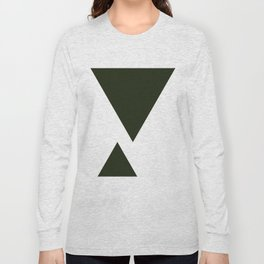 Abstract Black Long Sleeve T-shirt