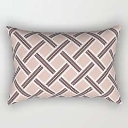 Modern Open Weave Pattern in Neutrals and Plums Rectangular Pillow