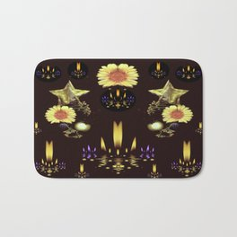 Stars Over The Sacred Sea Of Candles Bath Mat
