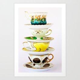 Tip Top TeaCup Art Print