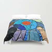 mosaic Duvet Covers featuring mosaic by  Agostino Lo Coco