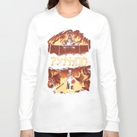 monty python Long Sleeve T-shirts featuring Attack on Python by Dave Collinson