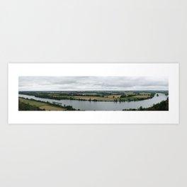 Panorama of Danube, Germany Art Print