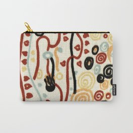 "Gustav Klimt ""Textile design - Model 6"" Carry-All Pouch"