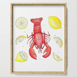 Lobsters & Lemons Serving Tray