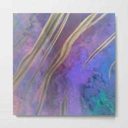 Opal in purple Metal Print