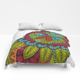 Colorful Owl Comforters