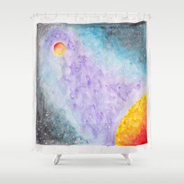 Galatic Encounters Shower Curtain