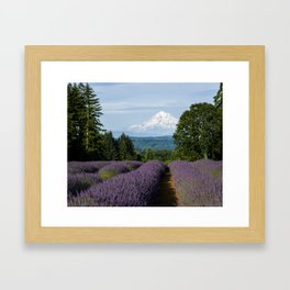 Lavender Fields & Mountain Views Framed Art Print