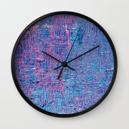 Blue grunge texture background Wall Clock