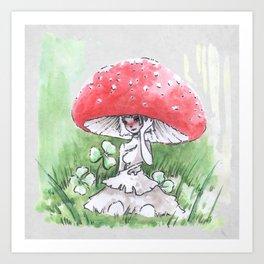 Empire of Mushrooms: Amanita Muscaria Art Print