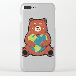 Earth Love Clear iPhone Case