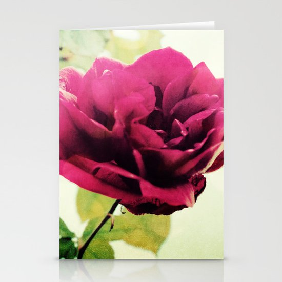 January Rose Stationery Cards