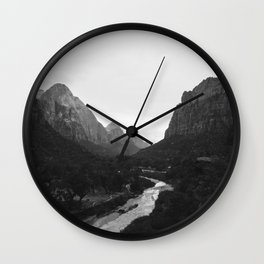 Zion black and white Wall Clock