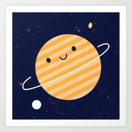 Happy Planet Art Print