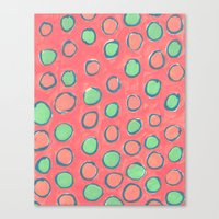 polka dot Canvas Prints featuring polka dot by Jenni Freidman