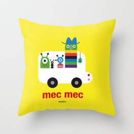 Mec Mec Throw Pillow