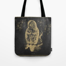The golden owl Tote Bag