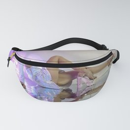 Woman stretches back in Esqape Fanny Pack