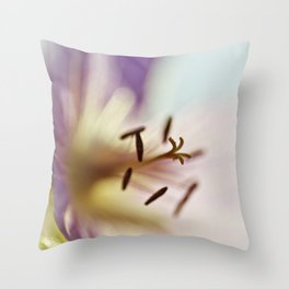 Lilac Blues Throw Pillow
