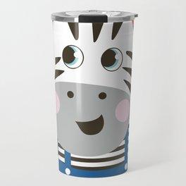 cute cartoon Zebra for kids Travel Mug