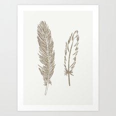 Luxe Feathers Art Print