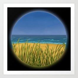 World Within Me - Beachside Art Print