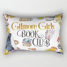 GG Book Club WhiteBG Rectangular Pillow