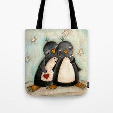 Penguin love -  Tote Bag