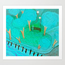 Showcase at the Waterfront  Art Print