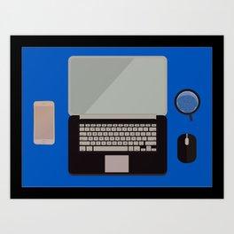 my notebook computer Art Print