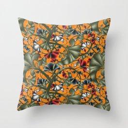 fleurs imaginaires 2 Throw Pillow