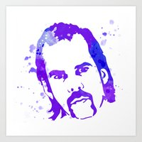 nick cave Art Prints featuring NICK CAVE by BIG Colours