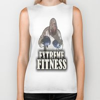 fitness Biker Tanks featuring EXTREME FITNESS  by Robleedesigns