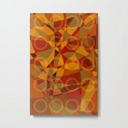 Círculos cálidos · Glojag Metal Print