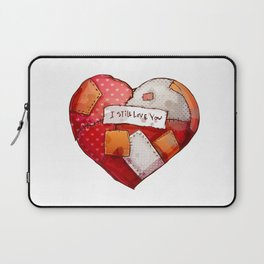 Heart with patches. Valentines day illustration. Laptop Sleeve