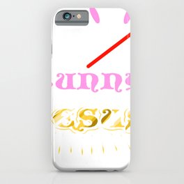 Easter Bunny No Bunny Loves Me Like Jesus iPhone Case