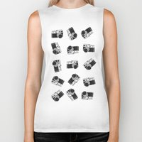 cameras Biker Tanks featuring little cameras by Alice Dol