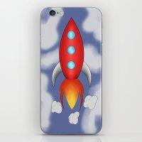 rocket iPhone & iPod Skins featuring Rocket by PrisonBlockS