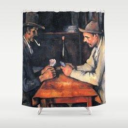 Paul Cézanne - The Card Players Shower Curtain