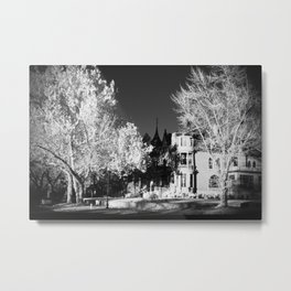 Infrared Art Center Metal Print