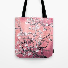 Van Gogh Almond Blossoms : Peachy Pink Tote Bag