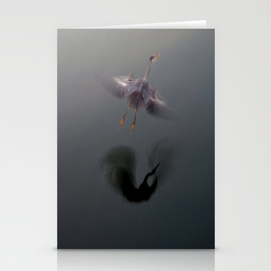 Blue Heron Abstract Stationery Cards